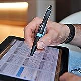 Kugelschreiber & Stylus für Tablets & Smartphones - STABILO SMARTball 2.0 in schwarz/cyan  - Schreibfarbe schwarz - für Linkshänder - 4
