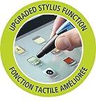 Kugelschreiber & Stylus für Tablets & Smartphones - STABILO SMARTball 2.0 in schwarz/cyan  - Schreibfarbe blau - für Linkshänder - 5