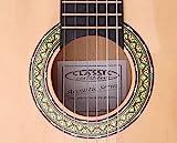 Classic Cantabile Acoustic Series AS-851-L Klassikgitarre 1/2 für Linkshänder Starter-SET (Konzertgitarre, Bag/Tasche, Schule, CD, DVD, Plektren, Saiten, Stimmpfeife) natur - 4