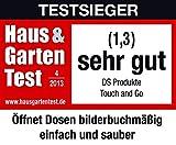 Touch and Go automatischer Dosenöffner, Metall / Kunststoff, rot, 18 x 7 x 6 cm - 6