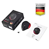 Perixx PERIMICE-718 Ergonomische Linkshänder Maus - Vertikales Design - Kabellos - 5 Tasten - Größeres Design - 1000/1600 DPI - 6