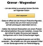 Cadenis Herren Geldbeutel Geldbörse Leder für Linkshänder mit Laser-Gravur aus Rindnappa schwarz Querformat 12,5 x 10,5 cm - 6