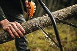 Fiskars Bügelsäge mit feststehendem Blatt für feuchtes Holz, Länge 70 cm (24 Zoll), Inklusive Sägeblattschutz, Hochwertiger Stahl, Schwarz/Orange, SW31, 1000615 - 4