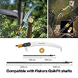 Fiskars Wertastungssäge für Arbeiten an weit entfernten Stellen, Werkzeugkopf, Länge 54 cm, Gehärtetes Stahl-Sägeblatt, Schwarz/Orange, QuikFit, 1000691 - 6