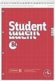 Brunnen 106791201 Notizblock / Collegeblock Student (für Linkshänder, A4, kariert, Lineatur 28, 70 g/m², 80 Blatt, mit Kopfspirale)
