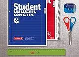 Brunnen 106791101 Notizblock / Collegeblock Student (für Linkshänder, A4, liniert, Lineatur 27, 70 g/m², 80 Blatt, mit Kopfspirale) - 5