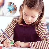 Dsaren Bleistift Griffe Silikon, Stift Griffe Schreibhilfe für Stift Kinder Linkshänder Pencil Grips for Kids Ergonomische Schreiben Grip Haltung Korrektur Werkzeug für Bleistifte Erwachsene 6 Stück - 6