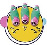 Ergonomischer Schulfüller für Linkshänder mit Anfänger-Feder A - STABILO EASYbirdy in himmelblau/grasgrün - Einzelstift - inklusive Patrone und Einstellwerkzeug - 10