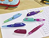 Ergonomischer Schulfüller für Linkshänder mit Anfänger-Feder A - STABILO EASYbirdy in himmelblau/grasgrün - Einzelstift - inklusive Patrone und Einstellwerkzeug - 8