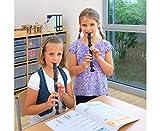 Betzold Musik C-Blockflöte (Sopran), barocke Griffweise, Flöte aus Kunststoff, für Rechts-und Linkshänder, einfach zu reinigen, spülmaschinenfest. Inkl. Wischer & Kunststoff-Etui - 3