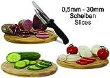 Nova Brotmesser mit Abstandshalter für Brot, Wurst, Käse, Fleischkäse, aus rostfreiem Edelstahl gearbeitet in Schwarz (Linkshänder) - 4