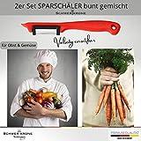 Schwertkrone Sparschäler Kartoffelschäler, 2er Set - Rechts und Linkshänder, bunt gemischt, Solingen Germany - Zufällige Farbe - 6
