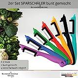Schwertkrone Sparschäler Kartoffelschäler, 2er Set - Rechts und Linkshänder, bunt gemischt, Solingen Germany - Zufällige Farbe - 5