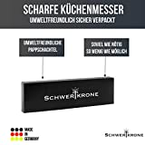 Schwertkrone Sparschäler Kartoffelschäler, 2er Set - Rechts und Linkshänder, bunt gemischt, Solingen Germany - Zufällige Farbe - 8