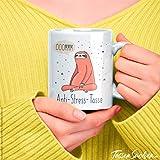 TassenSachen Bürotasse Faultier Spruch - Ooommm Anti-Stress-Tasse - lustige Kaffeetasse Teetasse aus Keramik in Weiß - ca. 330 ml spülmaschinengeeignet - Geschenk Geburtstag Homeoffice - 6