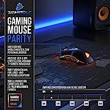 Titanwolf - Gaming Maus für Rechts- und Linkshänder - Mouse Flawless Pixart 3310 Sensor - 5 DPI-Stufen - 5 Benutzerprofile - 9 programmierbare Tasten - RGB Illumination - 50-5000 DPI - 5