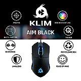 KLIM Aim Gaming Maus RGB Gamer Maus [7000 DPI] - Ergonomische RGB Chroma Computermaus mit Kabel für Rechts- und Linkshänder - PS4-Gaming Mouse, Laptop und Desktop-PC + optische Präzisionsmaus Schwarz - 6