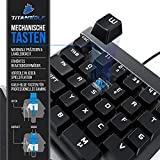 CSL-Computer Titanwolf - mechanische Tastatur Keypad 28 Tasten - Einhandtastatur - Mechanical Keyboard mit Multimedia-Keys - One Handed Gaming Keypad - ergonomische Handballenauflage - Anti Ghosting - 3