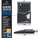 CSL-Computer Titanwolf - mechanische Tastatur Keypad 28 Tasten - Einhandtastatur - Mechanical Keyboard mit Multimedia-Keys - One Handed Gaming Keypad - ergonomische Handballenauflage - Anti Ghosting - 5