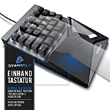 CSL-Computer Titanwolf - mechanische Tastatur Keypad 28 Tasten - Einhandtastatur - Mechanical Keyboard mit Multimedia-Keys - One Handed Gaming Keypad - ergonomische Handballenauflage - Anti Ghosting - 4