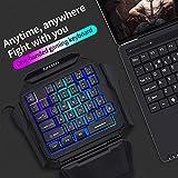 K50 RGB Gaming-Tastatur mit Kabel, 35 Tasten, Einhand-Schalter, Blau - 2