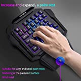 K50 RGB Gaming-Tastatur mit Kabel, 35 Tasten, Einhand-Schalter, Blau - 3