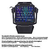 K50 RGB Gaming-Tastatur mit Kabel, 35 Tasten, Einhand-Schalter, Blau - 7