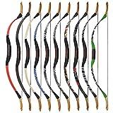 MILAEM Bogenschießen Traditionelle Recurve Bogen Sportbogen 25-55lbs Holz Langbogen Jagdbogen Mongolian Horsebow Outdoor-Ziel Praxis Rechtshänder Linkshänder (30lbs) - 7