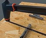 Presch Metallsäge 300mm lang - Bügel-Säge für Metall, Aluminium und Plastik - Sägeblatt wechselbar auf 45° - Profi Handsäge, Bügelsäge - 3