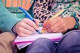 Ergonomischer Tintenroller – STABILO EASYoriginal in dunkelblau/hellblau – Schreibfarbe blau (löschbar) – inklusive Patrone – für Linkshänder - 9
